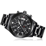 1Pc Mens Fashion Watch Stainless Steel Band Analog Quartz Wrist Watch
