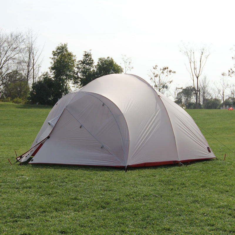4 Person 20D Silicone Light Double Layers Aluminum Tent