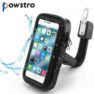 Powstro Waterproof Cell Phone Holder Universal Anti Rain Snow Drops Phone Stand Bag Case For Motorcycle With 3 Specification