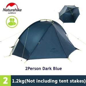 2 Person Hiking  Pro 20D Silicone Fabric Tent