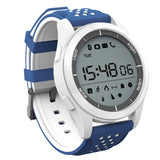 Powstro Outdoor Smart Bracelet F3 Bluetooth Waterproof Ip68 Mode Sport Watch Fitness Tracker Wearable Information Reminder - White And Blue