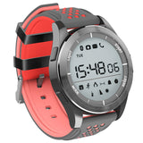 Powstro Outdoor Smart Bracelet F3 Bluetooth Waterproof Ip68 Mode Sport Watch Fitness Tracker Wearable Information Reminder - Black And Red