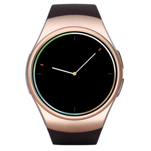 Smart Watch Bluetooth Wristwatch 1.3 Inch Bluetooth 4.0 Gsm Smart Watch For Ios Android - Golden