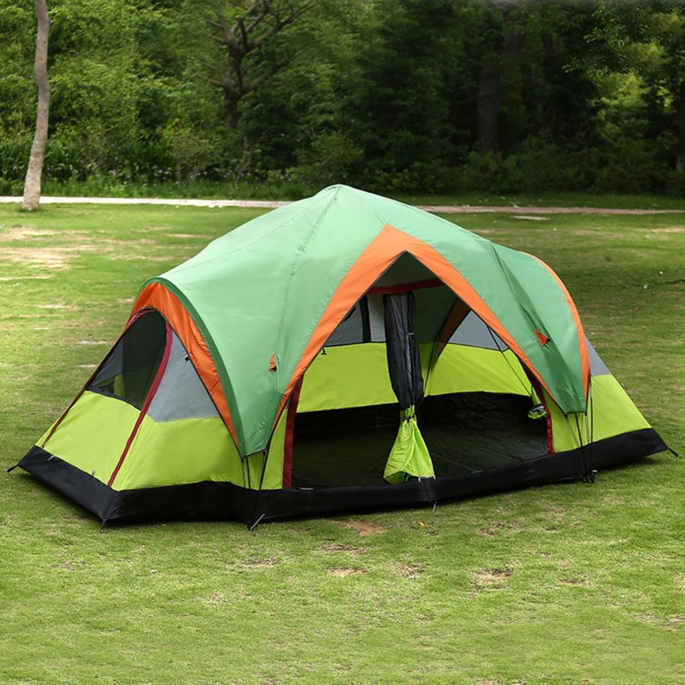 Pop-up Quick Open Double-Layers Tent for 5-8 Persons
