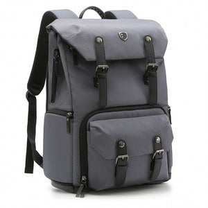 Canvas & Leather Retro Camera Backpack Photography Bag