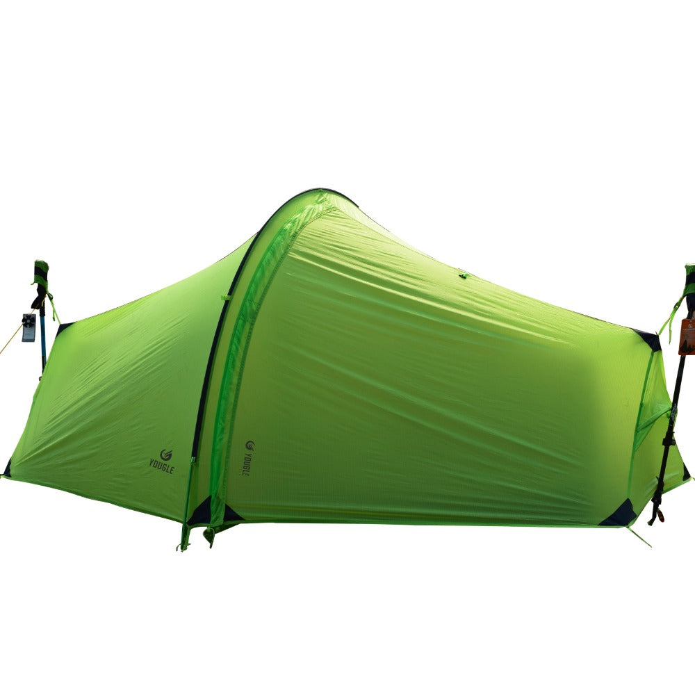 Double Layer One Men Tunnel Backpacking Tent
