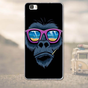For Huawei Ascend P8 Lite P8 Back Cover 3D Cartoon Silicon Tpu Soft Fundas For Huawei Ascend P8 Lite Cell Phone Case Shell Coque - 21