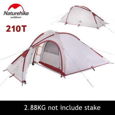 3 Person 20D Silicone One Bedroom One Living Room tent