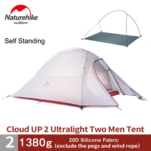 2 person Self Standing  20D Fabric With Mat Camping Tent
