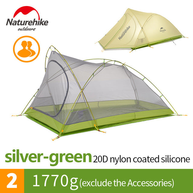 2 Person 20D Nylon with Silicon Coated Camping Tent