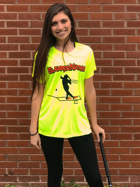 Women's Crew Neck T-Shirt: Safety Yellow