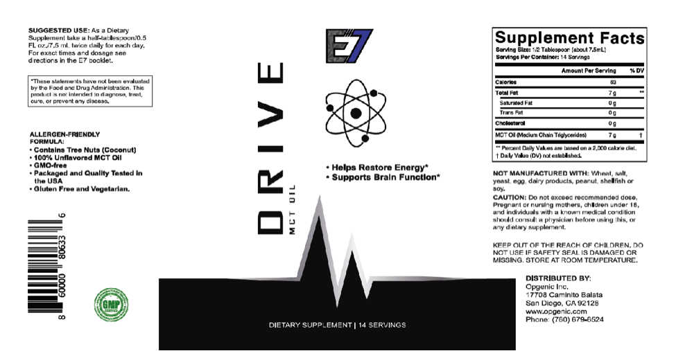 E7 Drive Ingredients