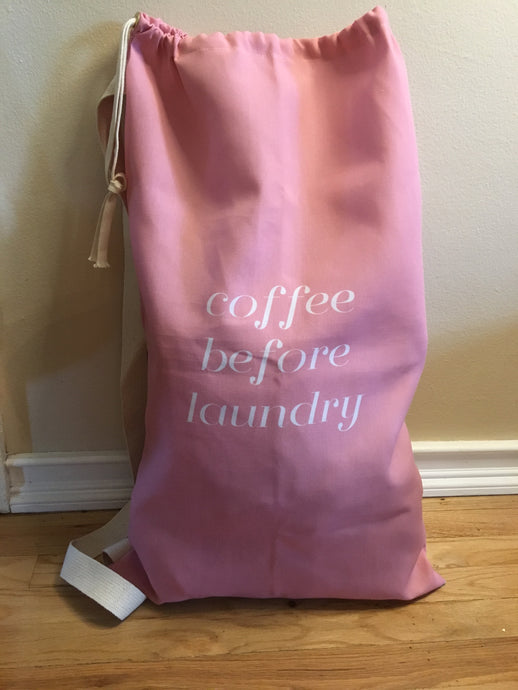 Coffee before Laundry Bag