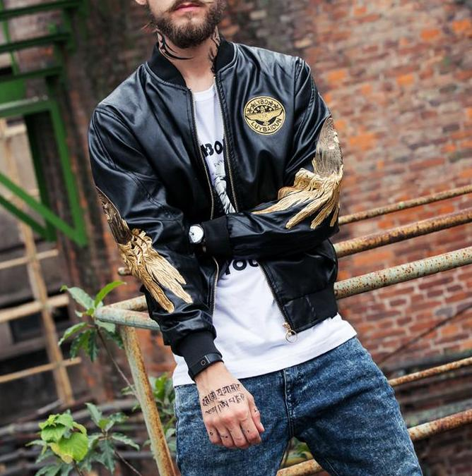 """Golden Wings of Redemption"" Bomber Jacket"