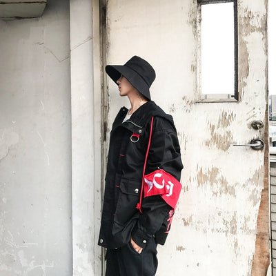 """Konichiwa"" Red Black Jacket"