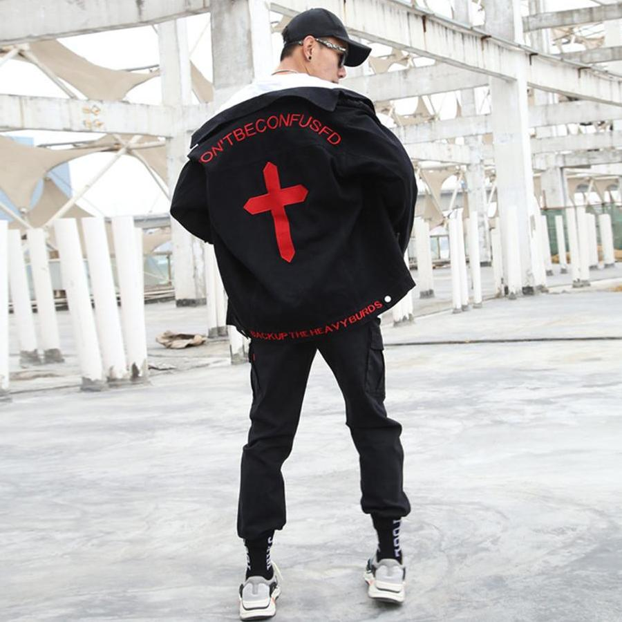 """F/O/R/G/I/V/E"" Denim Jacket Blood Edition [2018]"