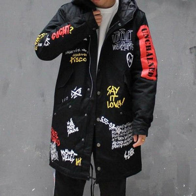"""Talkin' Bout"" Graffiti Coat"