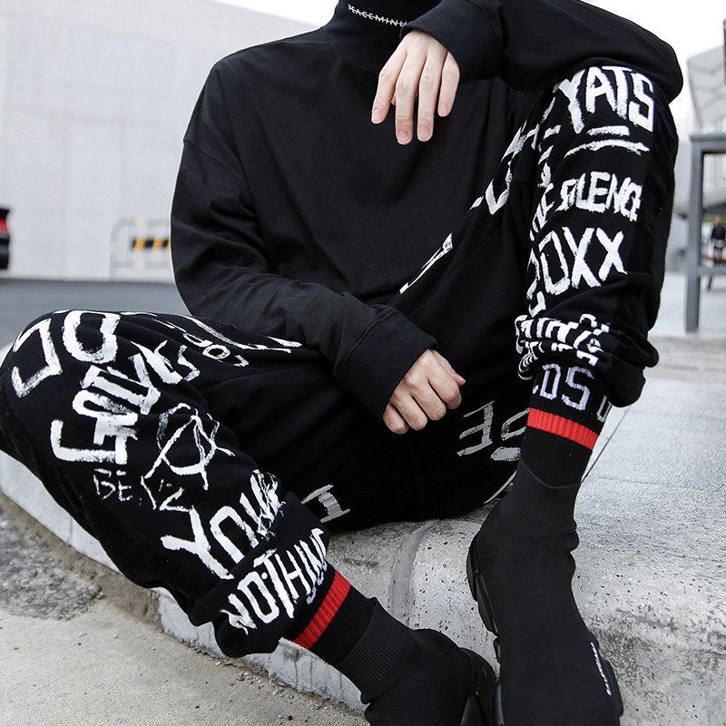 """Dope"" Graffiti Casual Street Sweatpants"
