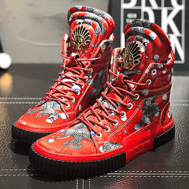 """Dragon Chief"" High Top Sneakers [Premium]"
