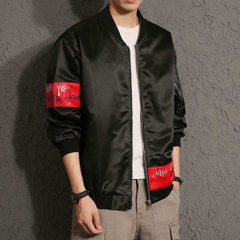 """Divided Jester"" Symbolic Bomber Jacket W/ Luxury Red Tags"