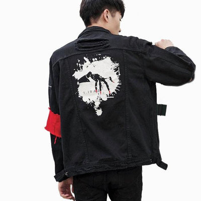 "Code 424 ""Strong"" Black Denim Jacket"