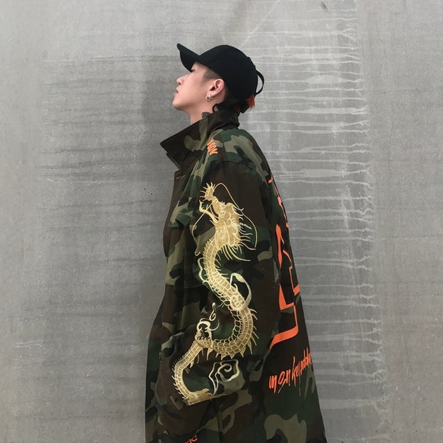 """D/R/A/G/O/N"" Camo Trench Coat [2018 EDITION]"