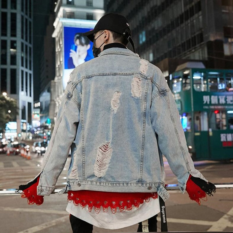 """Obscure Clown"" Denim Jacket"