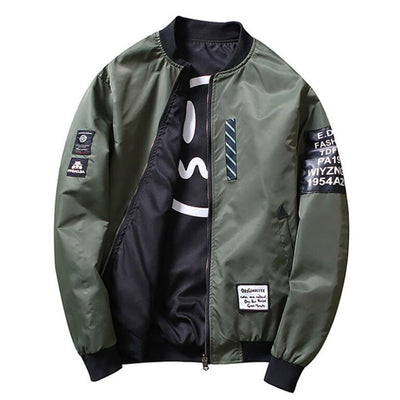 """DON'T SMILE@ME"" Bomber Jacket [REVERSIBLE] [LIMITED EDITION]"