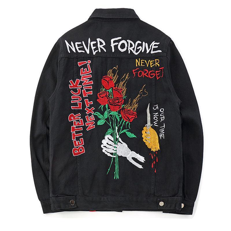 """Never Forgive"" Denim Jacket [NEW EDITION]"