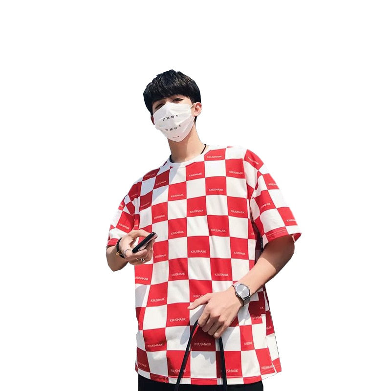 "K8USMA8K ""CHEQUERED"" T-SHIRT"