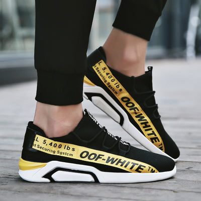 """OOF WHITE"" Racer Sneakers"