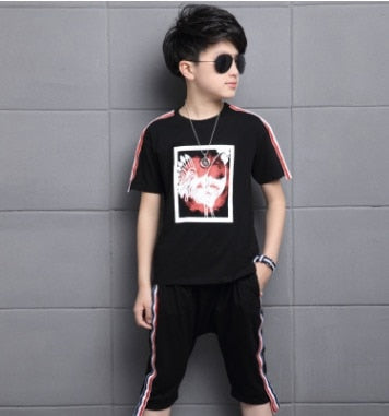"""Ondori"" T-Shirt and Shorts [2-Piece] - Kids"