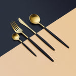Stilig Black and Gold - Silverware Set