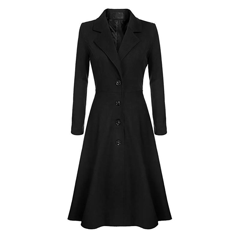 Ins New Winter Single-breasted Leisure Trench Coat