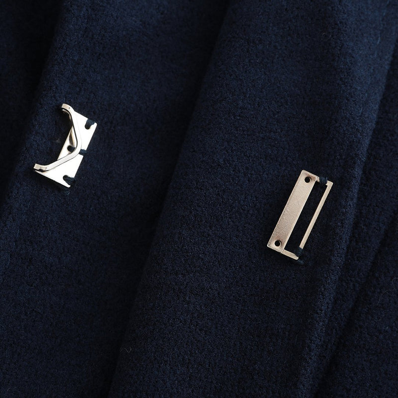Ins Hot Lapel Suit Cufflinks Pleated Swallowtail Coat