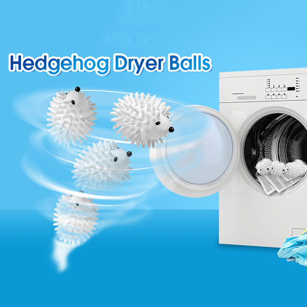 Cute Magic Hedgehog Reusable Dryer Balls, Laundry Dryer Balls Washing Fabric Softener