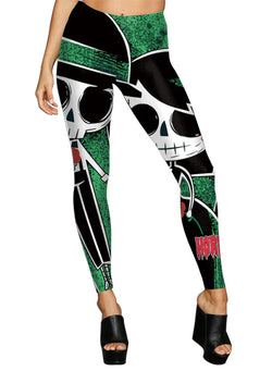 Women's Fashion Halloween Skull Printed Skinny Leggings