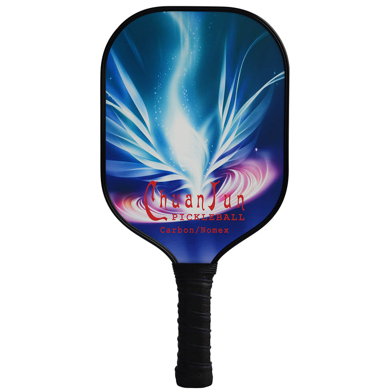 Adipin Pro Carbon Fiber Pickleball Paddle Carbon/Nomex Ultra Grip with Neoprene Racket Lightweight 6.75 Oz