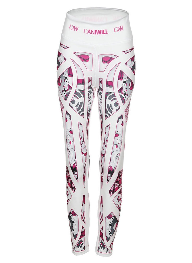 Women's Fashion Sexy Machine Pattern Printed Sports Leggings With Letters