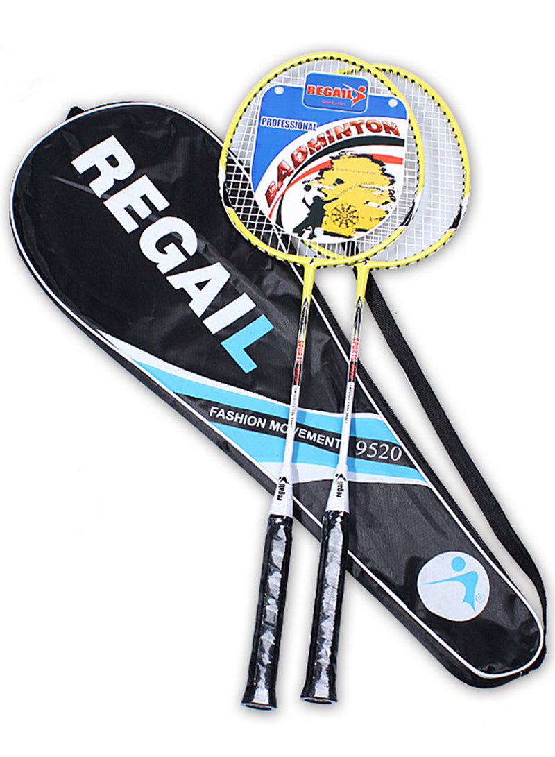 Sports Badminton Racket Indoor Outdoor Unisex 2-Pack