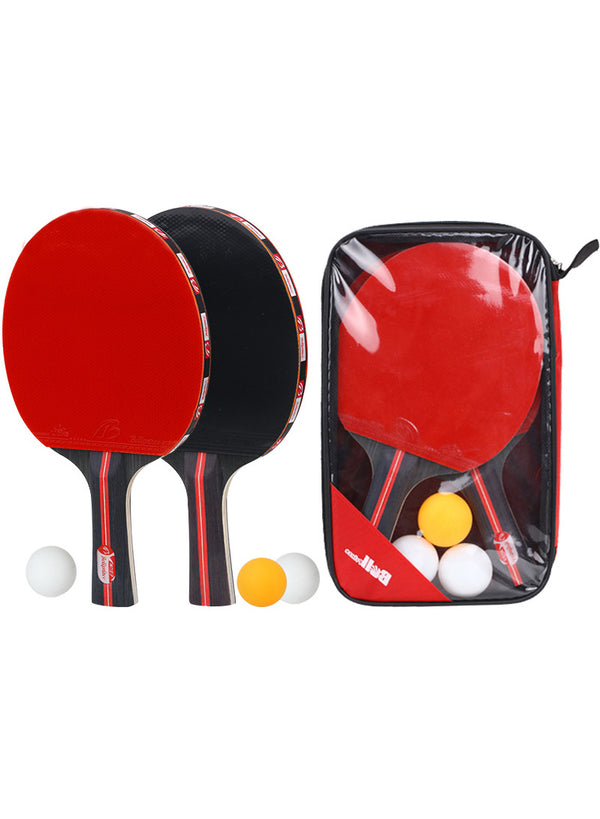 Table Tennis Paddle - Ping Pong Racket Set - 2 Paddles with 3 Balls
