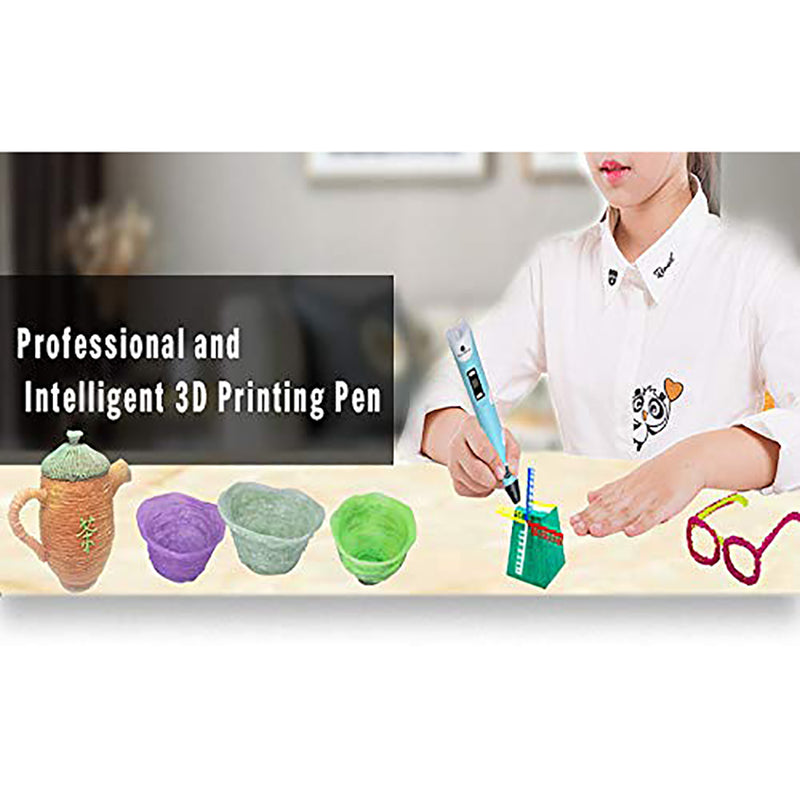 3D Printing Pen with PLA Filament Refills 3D Drawing Printer Pens