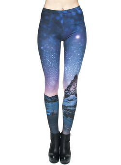 Women 3D Star Sky Print Sports Fitness Yoga Leggings