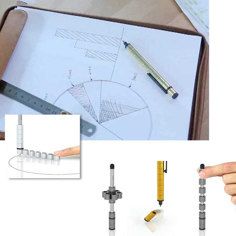 Magnetic Pen, Stylus Pen, Magnet Gel Pen and Touch Screen Pen, Creative Decompression Toy