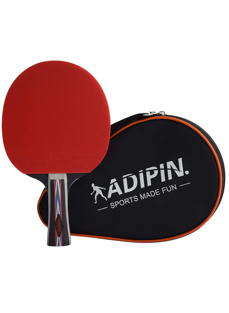 ADIPIN Superior Table Tennis Racket | Ping Pong Paddle | Wooden Blade with Rubber