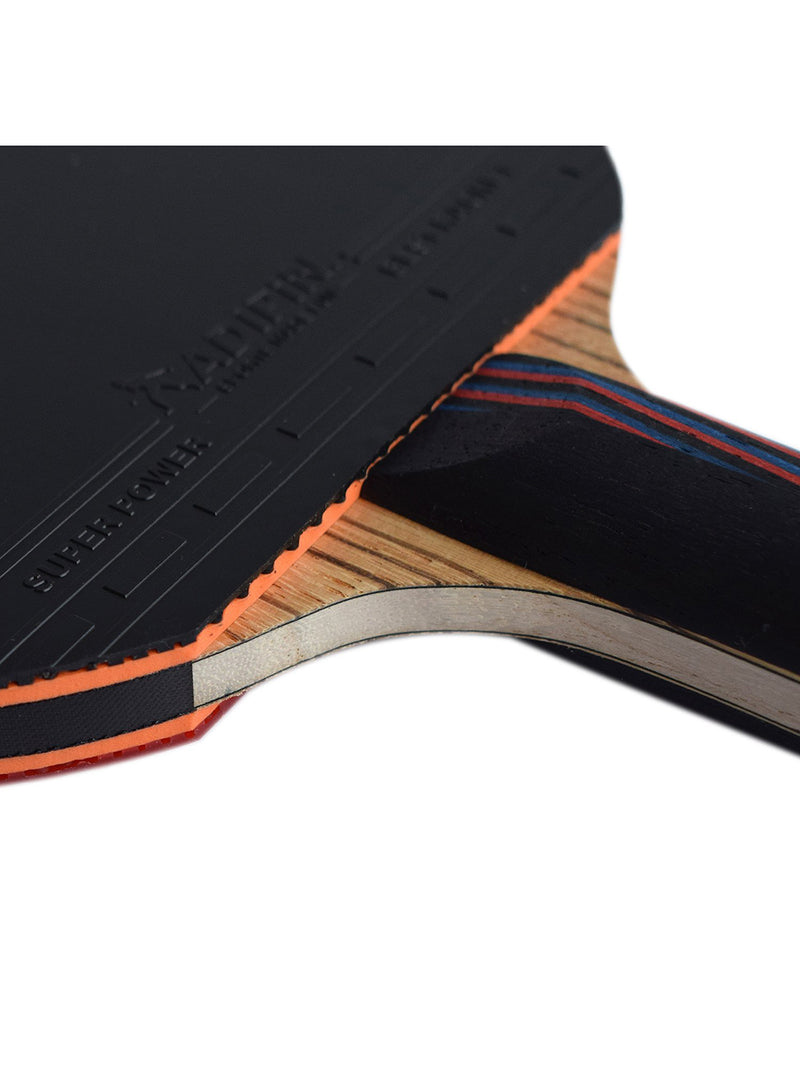 ADIPIN Master Carbon Table Tennis Racket | Ping Pong Paddle | 5-Ply Wooden Blade with Rubber and Sponge