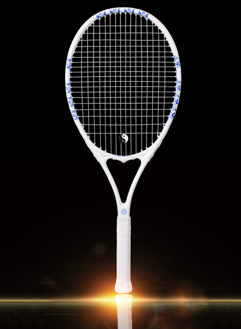 Carbon Fiber Tennis Racket with Oriental Design of Blue and White Porcelain