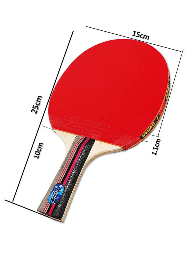 Table Tennis Paddle Ping Pong Racket Beginners Set-2 Paddles with 3 Balls