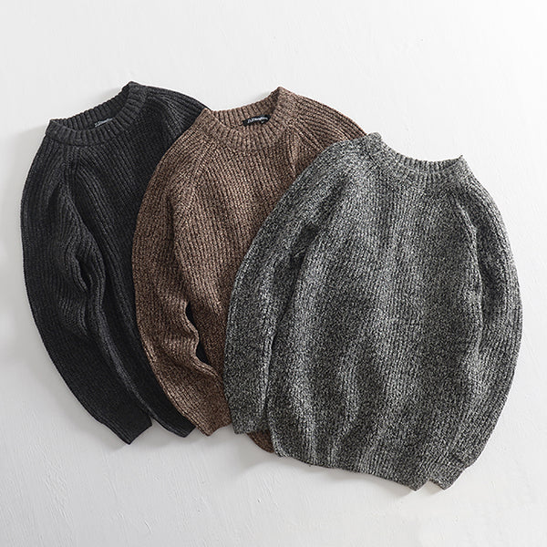 Mens Casual Knit Soft Thermal Winter Long Sleeve Pullover Sweater