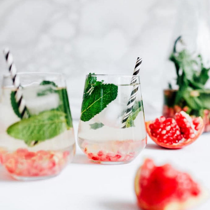 Pomegranate Mint Detox Water